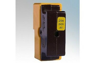 Wylex C20 20A HRC Cartridge Fuse Carrier and Yellow Sheild
