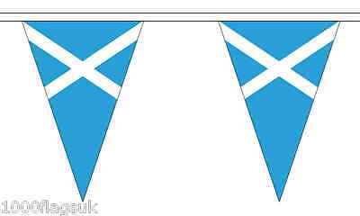 Scotland Triangular Flag Bunting - 20m Long - 54 Flags