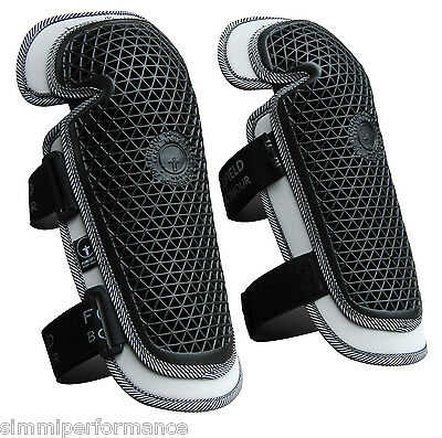 FORCEFIELD STRAP ON KNEE PROTECTORS Motorcycle MX Off Road Enduro Leg Armour