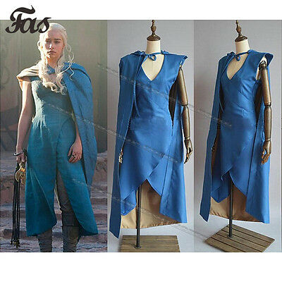 Adult Queen Daenerys Halloween Costume Game of Thrones Ladies Fancy Dress Outfit