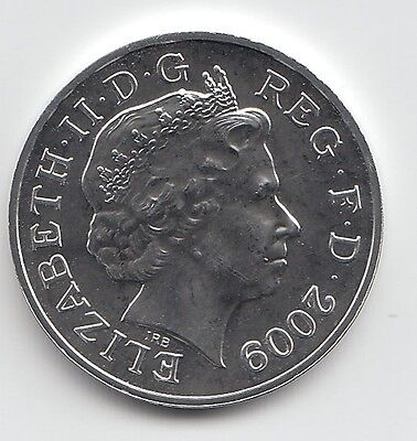 2009 Royal Mint Silver Brilliant Uncirculated Royal Shield of Arms One penny 1p