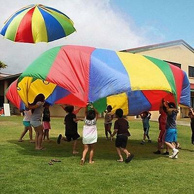 4m Kids Play Rainbow Parachute Outdoor Game Development Exercise Activity Sports