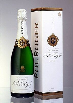 Pol Roger Brut Reserve NV (6 x 750mL Giftboxed), Champagne, France.