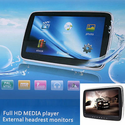 "10"" Full HD DIGITAL LCD MP5 CAR HEADREST MONITOR AVI DVD/USB/SD TF MEDIA Player"