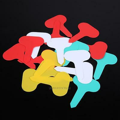 100pcs Plastic Plant T-type Tags Markers Nursery Garden Labels NEW WT7n