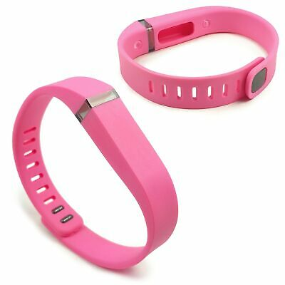 TUFF LUV Adjustable Silicone strap Wrist Band [LARGE] For Fitbit Flex - Pink