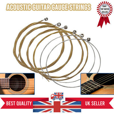 Acoustic Classic Guitar Strings Silver Set Medium Gauge Replacement UK Set of 6