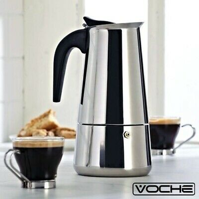 Voche® 6 Cup Espresso Coffee Maker Stainless Steel Stovetop Percolator Moka Pot