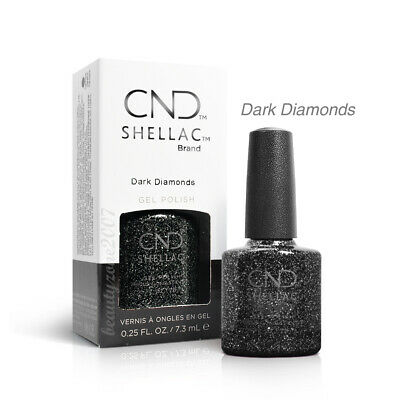 CND Shellac UV Gel Polish - Dark Diamonds 0.25oz /7.3ml