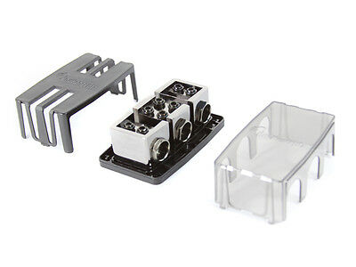 KnuKonceptz Dual Battery, Dual 1/0 Gauge 2 Way Fuse Distribution Block 300A Out
