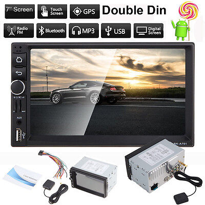 Double Din Car In-Dash Stereo GPS MP3 Player Bluetooth FM Radio USB/TF Android