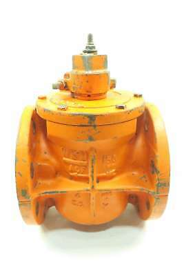Wkm 77780 150cwp 2-way 4 In Flanged Plug Valve