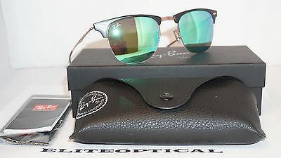 e16cbeae2b New Authentic RAY BAN LIGHT RAY Tech Titanium Brown Green Mirror RB8056 176  3R