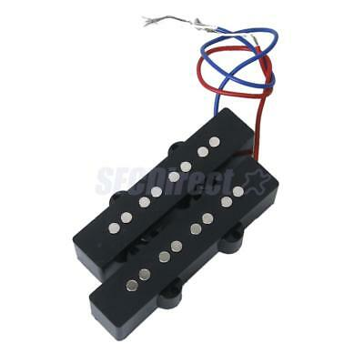 Set of 4 String Open Style Humbucker Pickups For Fender Jazz Bass Black
