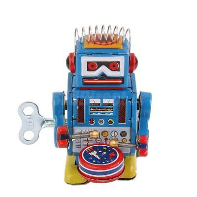 Wind Up Robot MS408 Mechanical Clockwork Tin Toy Collectibles Gift