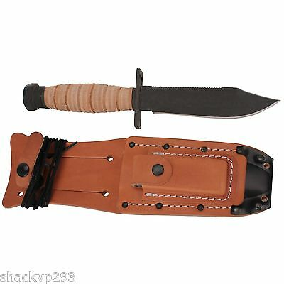 US Military OKC Ontario Knife 499 Pilots Survival Knife with Leather Sheath 6150