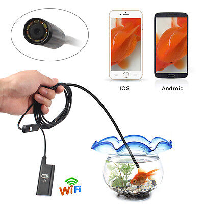 NEWEST WIFI BORESCOPE INSPECTION ENDOSCOPE SNAKE CAMERA FOR iPhone iOS Android