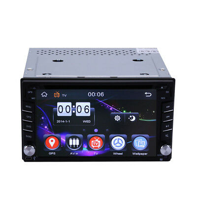 "2 Din 6.2"" Sat Navi+GPS Head Unit Car MP3/USB/SD/AUX/IPOD DVD Player Bluetooth"