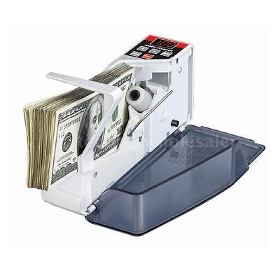 NEW Money Bill Cash Counter Bank Machine Count Currency Counting Machine EU I5O3