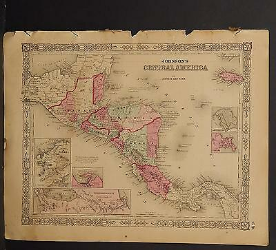 Johnson's Maps, 1864, Central America O3#68
