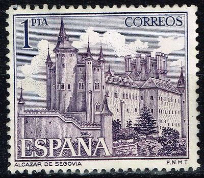 Spain Famous Architecture Alcázar of Segovia stamp 1963 MLH
