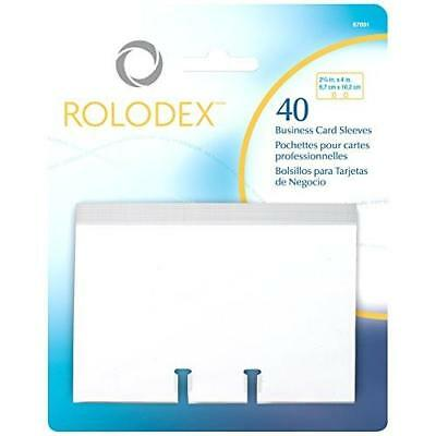 Rolodex Business Card Tray Refill Sleeves, Holds 2 of 2.625 x 4 Inch Cards, New