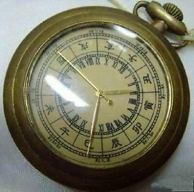 work well, Old Chinese Bronze Mechanical Pocket Watch Clock