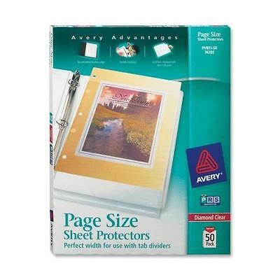Avery PV811-50 3 Hole Punched Heavyweight Sheet Protector - 1 Sheet Capacity - L