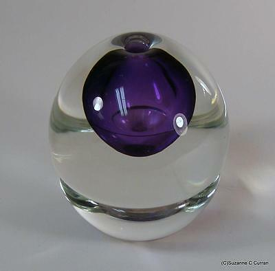 Beautiful! Young & Constantin Studio Art Glass Paperweight