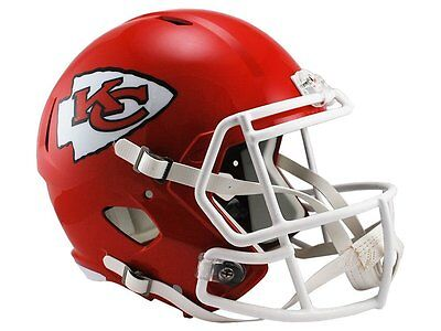 NFL Football Full Size Speed Helm Helmet KANSAS CITY CHIEFS Riddell neu OVP