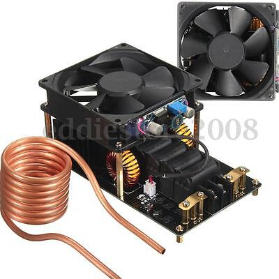 1000W ZVS 20A Induction Heating Machine Cooling Fan PCB W/ Copper Tube 12-36V