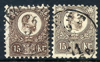 HUNGARY 1871 15k brown and blackish-brown engraved, fine used