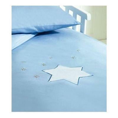 Saplings Cot / Junior Bed Duvet Cover & Pillow Case Set (Blue Twinkle Star)