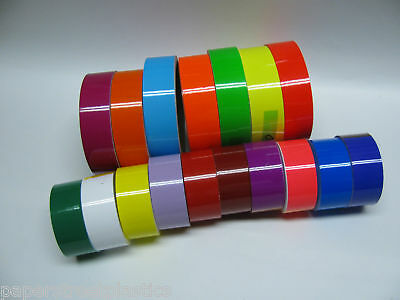 WIDE Colored Glossy Vinyl Tape, choose color and size, Gloss Neons & Oracal 651