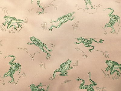 Scalamandre Quality Cotton Interiors Fabric Green Frogs 'Calabassas County'
