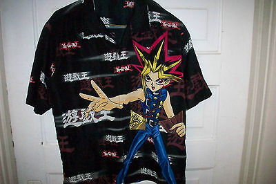 Boys Xl Yu-Gi-Oh  Button Down Shirt -  Rare - Awesome