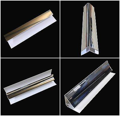 Silver 8mm Trims For Shower Wall Panels Bathroom PVC Wet Wall Panels Chrome 2.6m