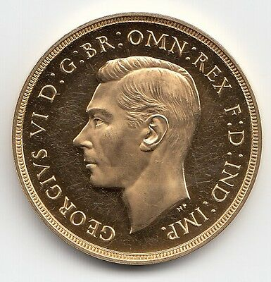 Rare 1937 Great Britain King George Vi Proof Gold Two Pound £2 Coin