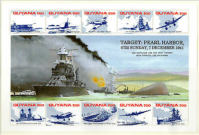 1991 GUYANA Anniversary of Attack on Pearl Harbour min/sheet unmounted mint