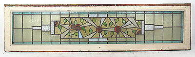 Long Vintage Stained Glass Window (2909)NJ