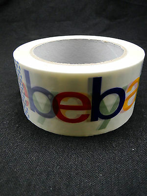 eBay Branded Packing Packaging Shipping Tape BOPP 1 Roll 75 Yards 2Mil Thickness
