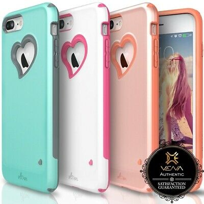 For iPhone 8 7 Plus Vena【vLove】 Bumper Hybrid Dual Layer Case Cover Girl Pink