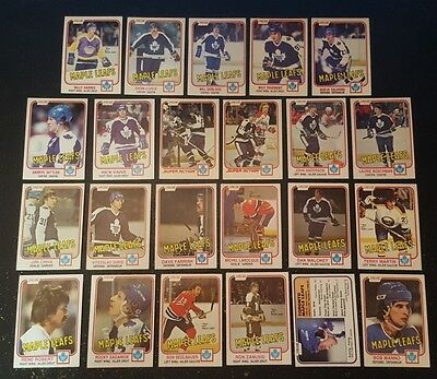 1981-82 OPC TORONTO MAPLE LEAFS Select from LIST NHL HOCKEY CARDS O-PEE-CHEE