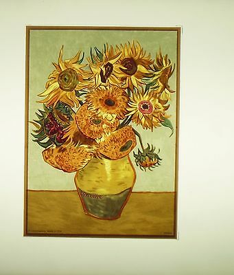 """Glassmasters: Vincent Van Gogh: """"Sunflowers"""" 5 by 7 inches"""