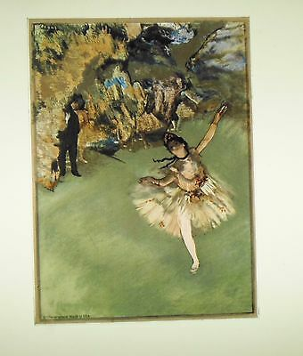 """Glassmasters: Edgar Degas: """"Dancer on Stage""""   5 by 7 inches"""