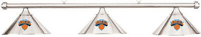 NBA New York Knicks Chrome Metal Shade & Chrome Bar Billiard Pool Table Light