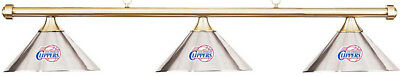 NBA LA Los Angeles Clippers Chrome Shade & Brass Bar Billiard Pool Table Light