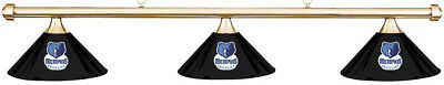 NBA Memphis Grizzlies Black Metal Shade & Brass Bar Billiard Pool Table Light
