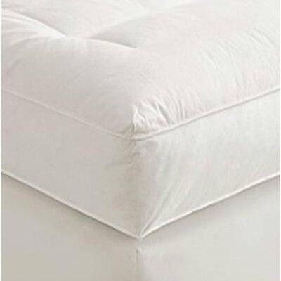 """5"""" Queen Goose Down Mattress Topper Featherbed / Feather Bed Baffled"""
