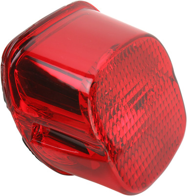Drag Specialties Laydown Taillight Lens w/ Bottom Tag Window - Red 2010-0783